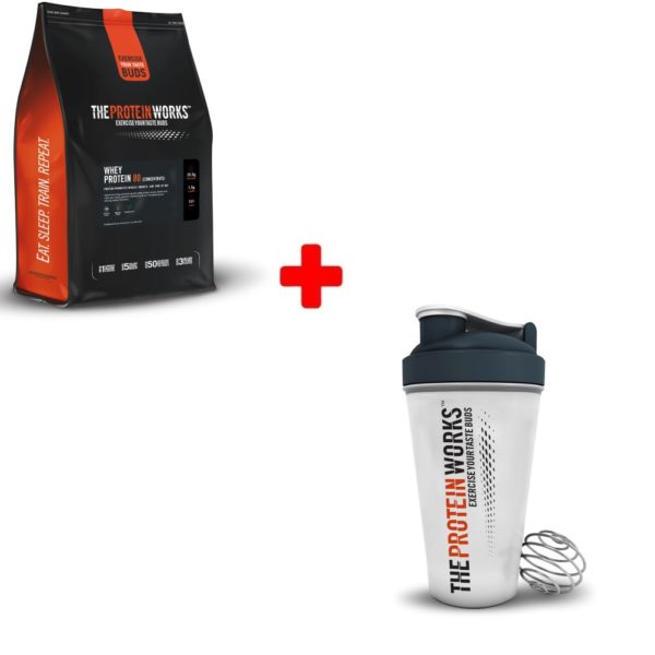 Whey Protein 80 & Shaker Bundle